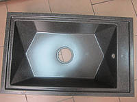 Гранитная кухонная мойка Kuchinox Okio 450 мм х 720 мм (графит)