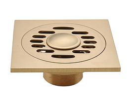 Бронзовый трап для душа с механическим клапаном 100 мм х 100 мм (к.1)