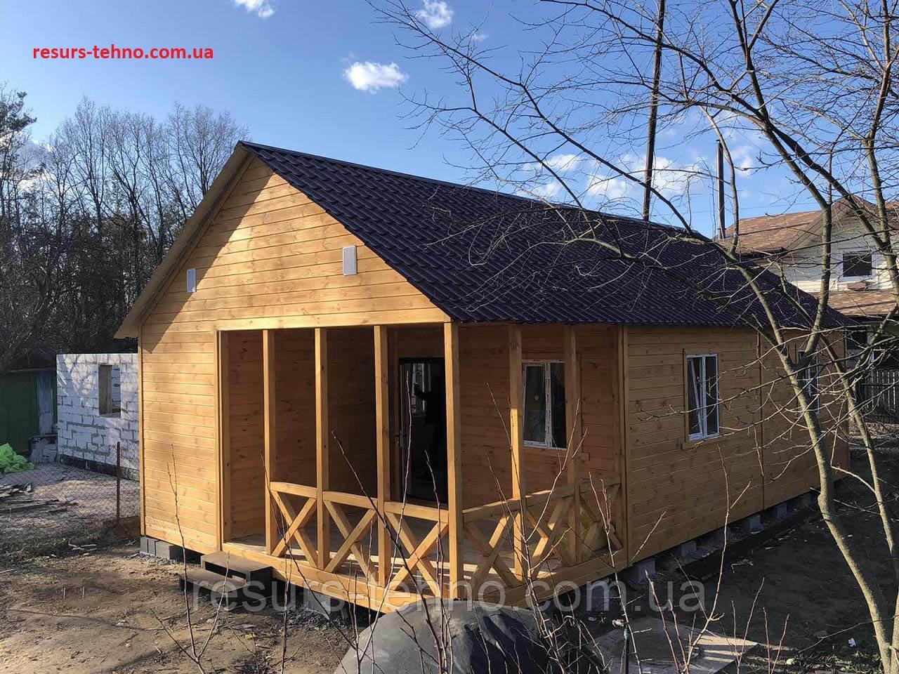 Дачний будиночок дерев'яний збірний 11,0 м х 6,0 м з террассой