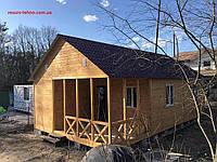 Дачний будиночок дерев'яний збірний 11,0 м х 6,0 м з террассой, фото 1