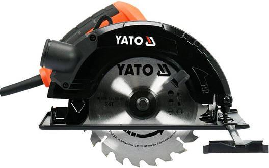 Дисковая пила 185 мм 1500 Вт YATO YT-82152, фото 2