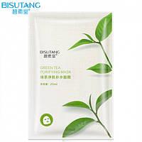 Увлажняющая и очищающая маска с зеленым чаем Bisutang Green Tea Purifying Mask