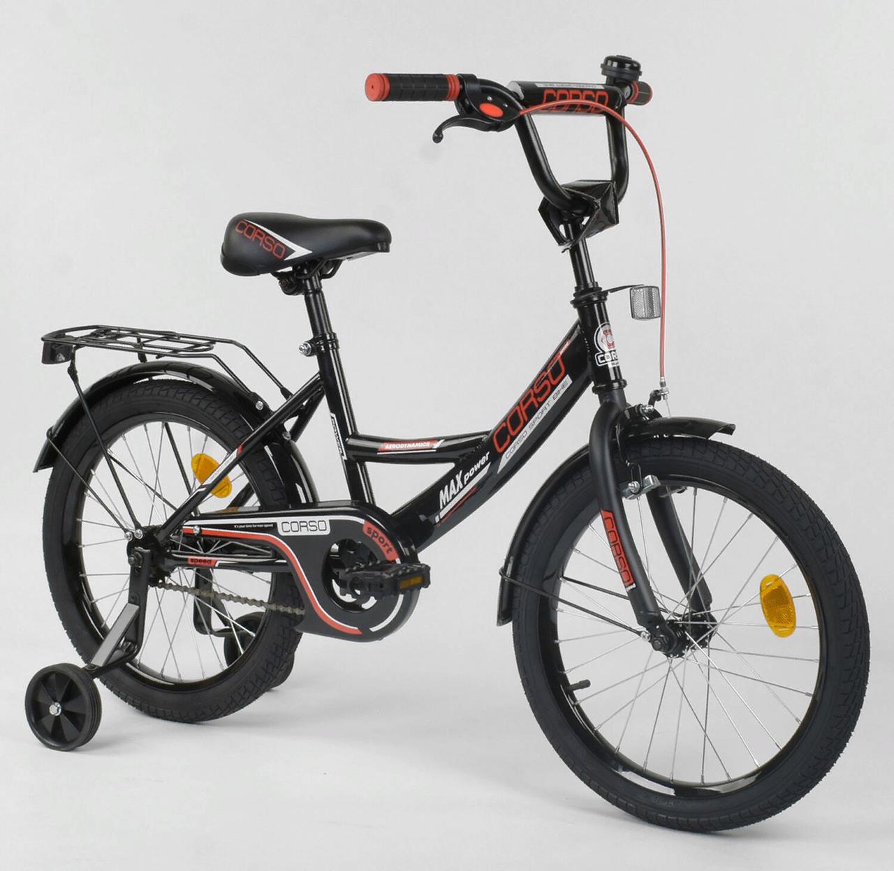 Двухколесный детский велосипед 18 дюймов CL-18 R 4003 черный
