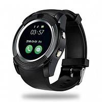 Розумні смарт - годинник Smart Watch V8 Чорні чоловічі, Android, 128МБ, камера 1,3 МП, мікрофон, чорні, смарт годинник, розумні годинник