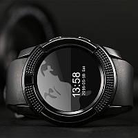 Чоловічі смарт-годинник на руку Smart Watch Phone V8 Чорні