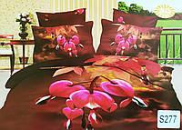 """Комплект постельного белья евро 3D сатин Elway S277 """"Дицентра - разбитое сердце"""""""