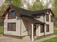 Каркасный дом - американский проект Солнечный 120 кв.м.Под ключ.