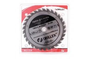 "ТМ ""DRILLEX"" Пила дискова 180*22,23 мм з 21 твердосплавними пластинами (шт.)"