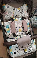 Универсальный ортопедический матрас в коляску или автокресло (стульчик для кормления)