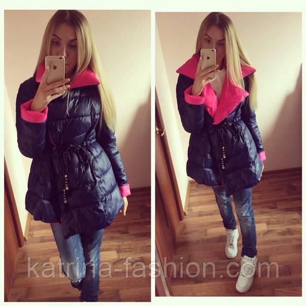 Женская стильная куртка с поясом евро-зима - KATRINA FASHION - оптовый  интернет-магазин 677ba864b28