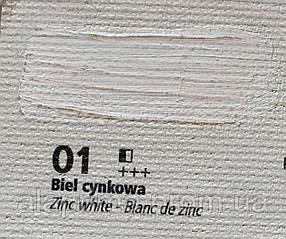 Краска масляная 001 Белила цинковые 60мл Renesans