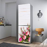 """Виниловая наклейка на холодильник """"Букет роз""""."""