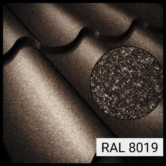 "Металлочерепица Атланта - ""Сталекс"" RAL 8019 PEMA 0,5 мм (OptimaSteel)"
