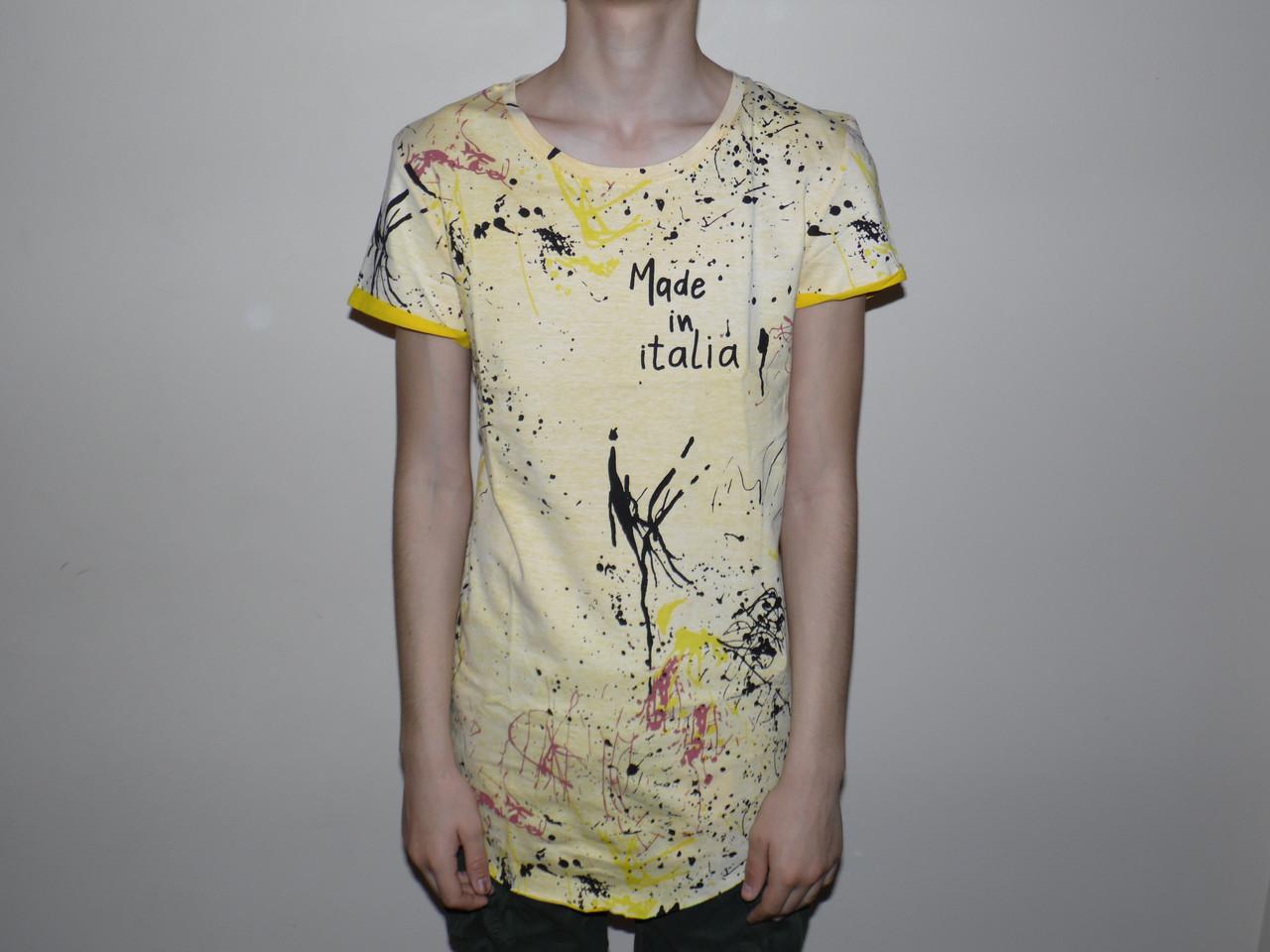 Купить Мужская футболка удлиненная 5390., Glo-story