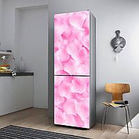 """Виниловая наклейка на холодильник """"Розовые лепестки""""., фото 1"""