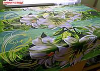 Двоспальнепростирадлона резинці - Лілії на воді