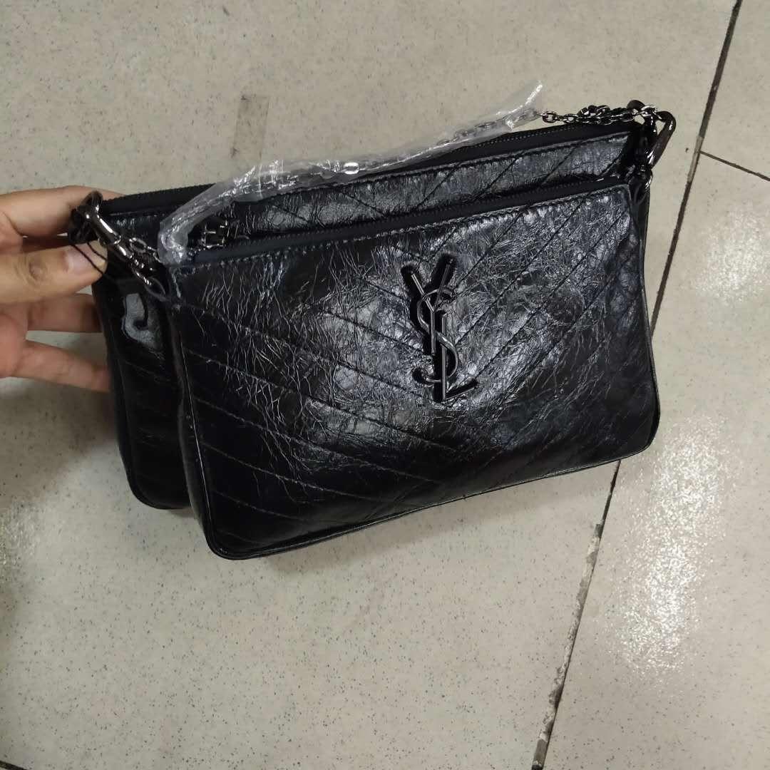 Сумка в стиле YSL комплект / натуральная кожа (995) Черный