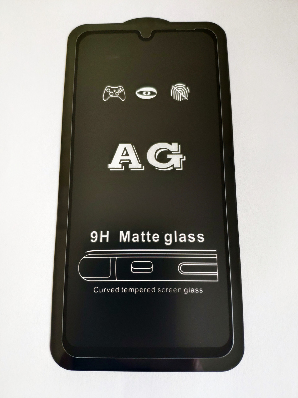 Защитное стекло AG Matte Full Glue для Huawei P30 Lite Матовое Черное