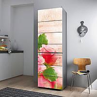 """Виниловая наклейка на холодильник """"Розы и дерево""""., фото 1"""