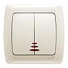 Выключатель 2-кл.с подсветкой крем ViKO Carmen