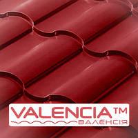 Металлочерепица Сталекс Валенсия RAL 3011 (красная глянец) PE 0,5 мм , Китай OptimaSteel.