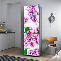 """Виниловая наклейка на холодильник """"Сирень""""., фото 1"""