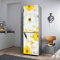 """Виниловая наклейка на холодильник """"Хризантемы""""., фото 1"""