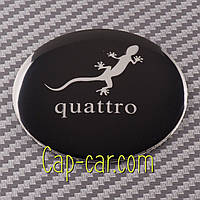 Наклейки для дисков с эмблемой Audi quattro. (Ауди кватро ) Цена указана за комплект из 4-х штук