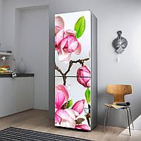 """Виниловая наклейка на холодильник """"Магнолия""""., фото 1"""