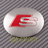 Наклейки для дисков с эмблемой Audi S-line. (Ауди С лайн ) Цена указана за комплект из 4-х штук