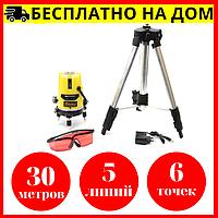 Красный луч на 30 м. • Лазерный уровень Нивелир ASAKA + тренога • Чехия