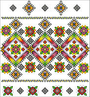 Бумажная цветная Схема Свадебного рушныка, сорочки, вишиванки. Схема рушника на весілля.