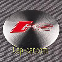 Наклейки для дисков с эмблемой Audi RS. (Ауди РС ) Цена указана за комплект из 4-х штук