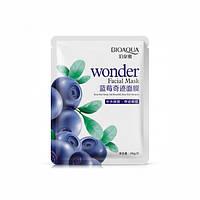 Тканинна маска-серветка для обличчя з екстрактом чорниці BIOAQUA Wonder