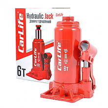 Домкрат бутылочный 6 т 200-385 мм гидравлический CARLIFE (BJ406)