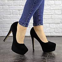 Туфли женские на шпильке черные Baby 1359