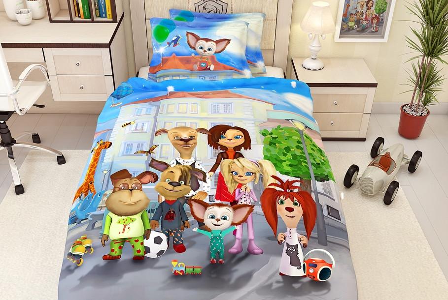 Детское постельное белье сатин LA SCALA KF-01