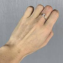 Золотое кольцо с фианитами 585 пробы, вес 3,21 г. Золото бу в Украине, фото 2