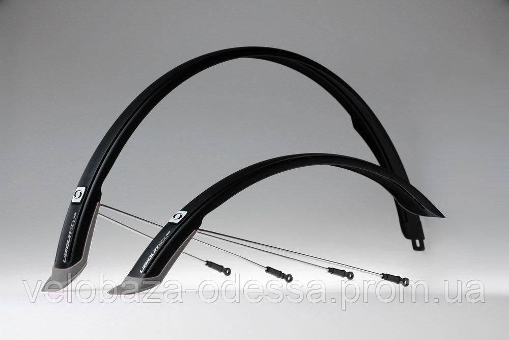 """Комплект крыльев 28"""" SIMPLA Ubiquit SDL 46mm, с брызговиками, чёрные"""