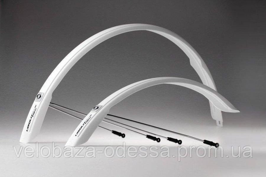 """Комплект крыльев 28"""" SIMPLA Ubiquit Urban SDS 46mm, белые"""