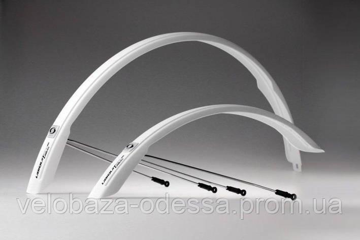 """Комплект крыльев 28"""" SIMPLA Ubiquit Urban SDS 46mm, белые, фото 2"""