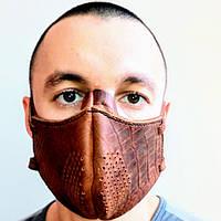 Маска кожаная, распиратор/маска шкіряна, распіратор