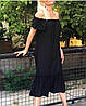 Летнее длинное платье с вырезом на плечи 42-46 (в расцветках), фото 3
