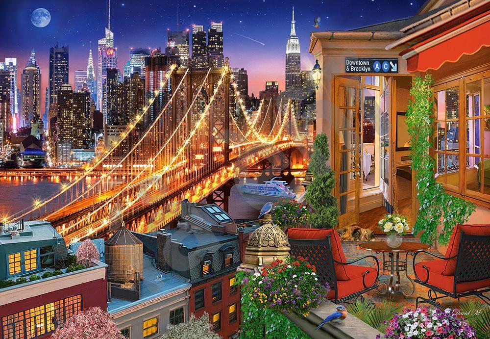 """Пазли Castorland 1000 елементів """"Вогні Бруклінського мосту"""" (C-104598)"""