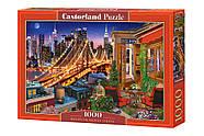 """Пазлы Castorland 1000 элементов """"Огни Бруклинского моста"""" (C-104598), фото 2"""