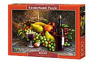 """Пазли Castorland 1000 елементів """"Вино і фрукти"""" (C-104604), фото 2"""