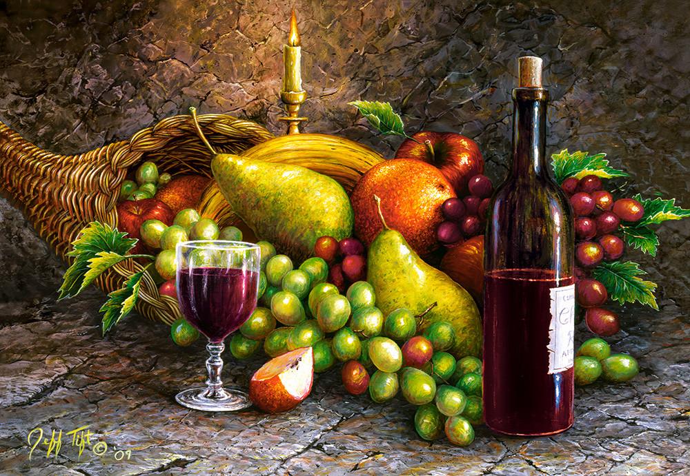 """Пазли Castorland 1000 елементів """"Вино і фрукти"""" (C-104604)"""