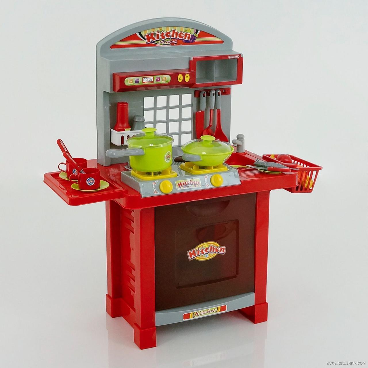 Детский игровой набор интерактивная кухня большая 008-55 A свет звук