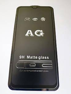 Захисне скло AG Matte Full Glue для Xiaomi Redmi Note 8 Pro Матове Чорне