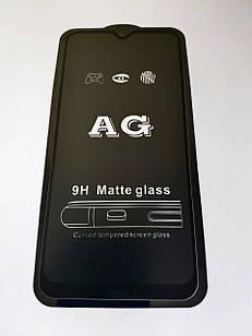 Захисне скло AG Matte Full Glue для Xiaomi Redmi Note 8 Матове Чорне